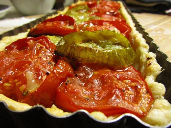The Tomato Tart Still In The Pan