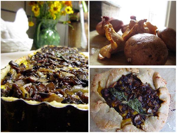 Vegan Butternut Squash & Mushroom Tart