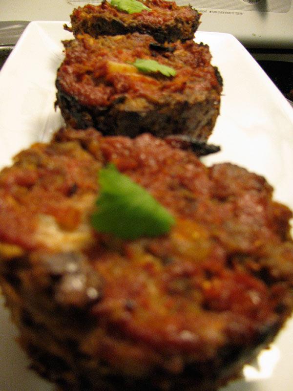 Individual Veggie Meatloafs