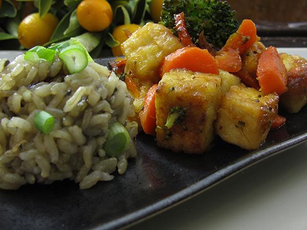 Gluten Free & Vegan Orange Tofu