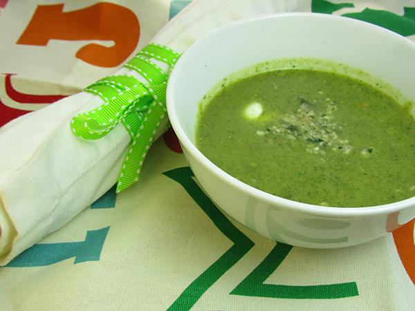 The Broccoli Soup of Doom (with evil walnut gremolata)