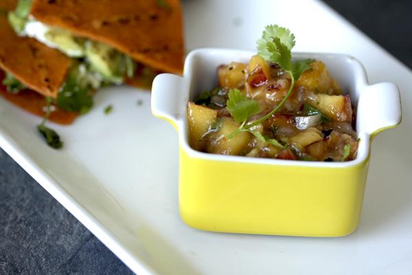 Caramelized Nectarine Salsa
