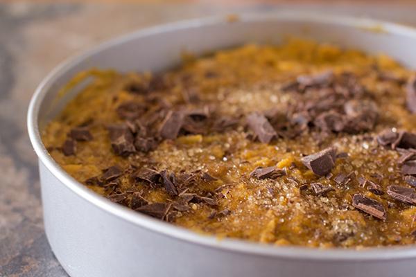 Vegan Pumpkin Chocolate Chunk Cake
