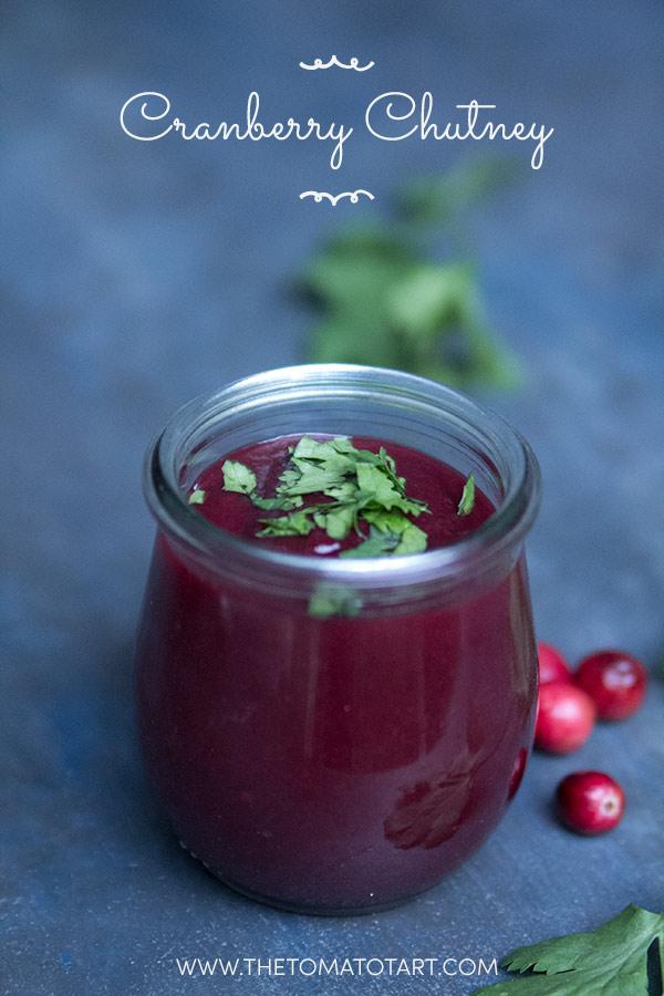 Cranberry Chutney- Gluten Free, Vegan, Paleo