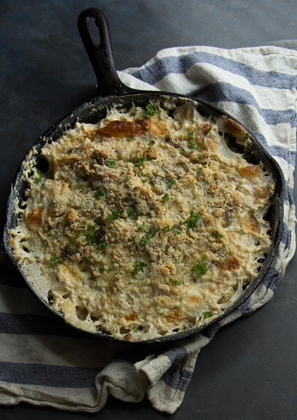 Gluten Free Cauliflower Gratin, low carb, paleo/primal