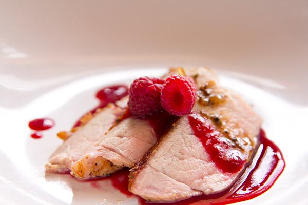 Pork with Raspberry Gastrique