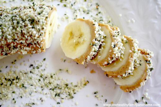 "Banana and Hemp ""sushi"""
