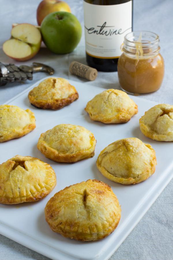 Gluten Free Apple Hand Pies with Chardonnay Caramel